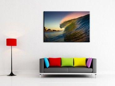 Tableau déco belles couleurs sur la vague