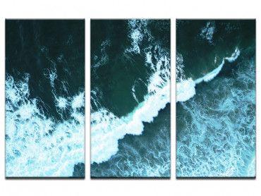 Tableau photo vague au milieu de l'infini
