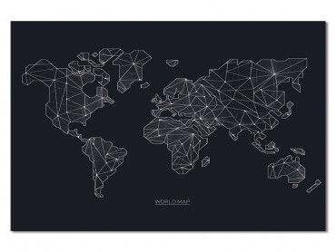 Tableau carte du monde origami