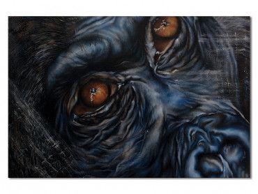 Tableau regard songeur gorilla