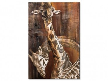 Tableau peinture sauvage et longs cous