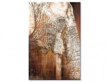 Tableau portrait profil d'éléphant