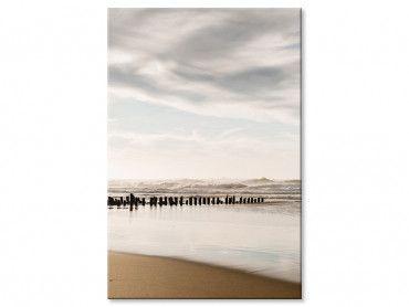 Tableau photo embruns et nuages à la plage