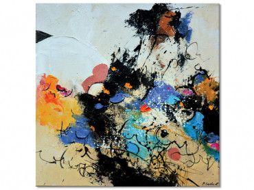 Tableau abstrait joyeuses en folie