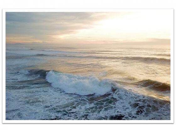 Cadre photo vaste étendue marine