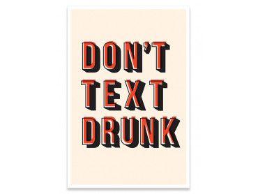 Cadre don't text drunk