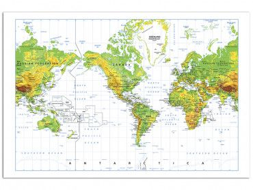 Cadre carte du monde vintage
