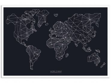 Cadre carte du monde origami
