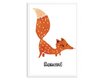 Cadre deco renard roux