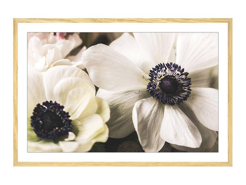 Cadre photo Flowers Ovale Blanc 6 x 9 cm Cadre Photo Blanc Fleurs religieuse