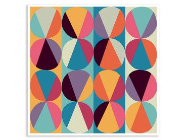 Affiche color cercles et triangles parfaits