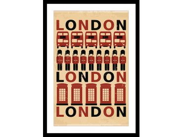 Cadre illustration Releve de La Garde Made in London