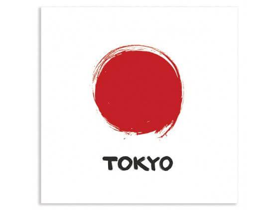 Cadre illustration Tokyo vintage