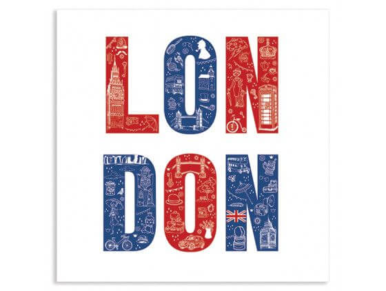 Cadre illustration London vintage