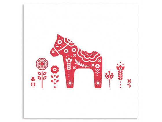 Cadre illustration vintage Le cheval de suede intage