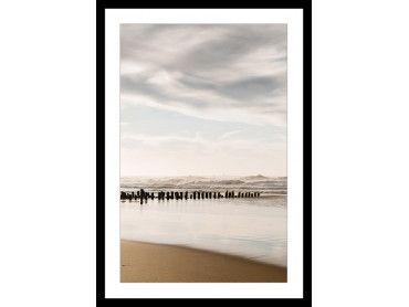 Cadre photo embruns et nuages à la plage