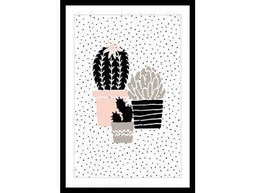 Cadre Pois et cactus
