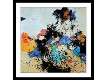 Cadre abstrait joyeuses teintures en folie