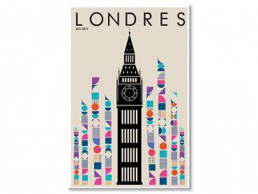 Tableau London Big ben retro