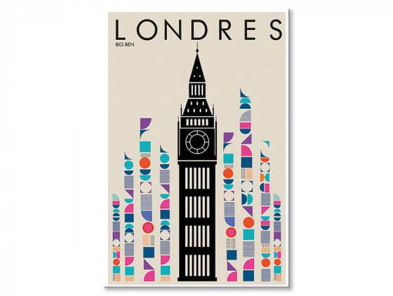 Tableau London Big ben retro