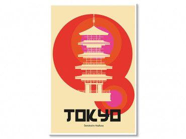 Tableau Tokyo temple Asakusa
