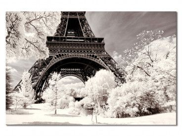Tableau Paris Winter White la Tour Eiffel