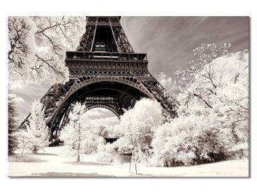 Tableau Paris Winter White la Tour Eiffel