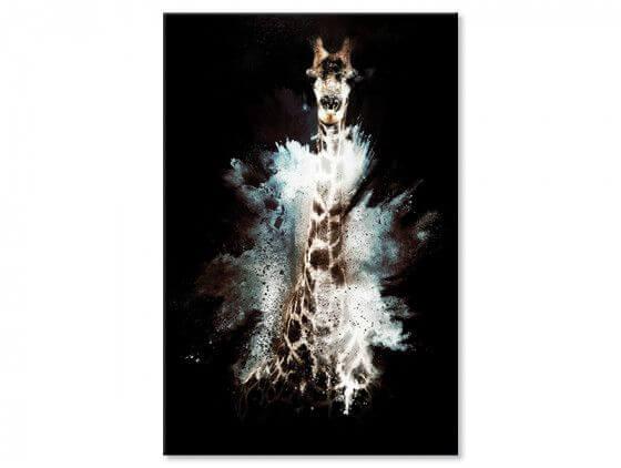 Tableau Wild Explosion girafe