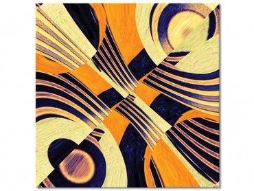 Tableau symetrie jaune art visuel