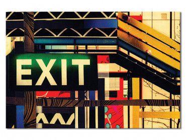 Tableau photographie EXIT art de rue