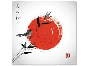 Tableau Shinto et son rossignol