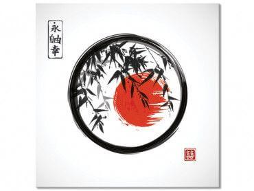 Tableau zen circle Japon et bambous