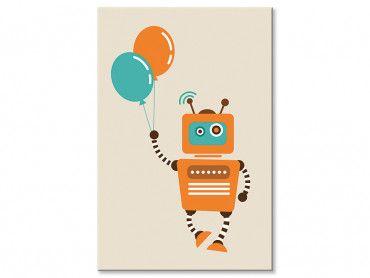 Tableau le petit robot aux ballons