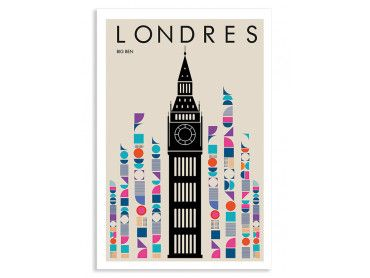 Cadre London Big ben retro