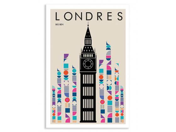Cadre London Big ben retro