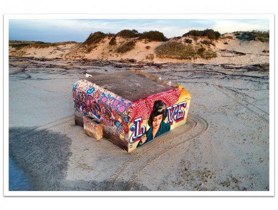 Cadre Blockhaus Art Love