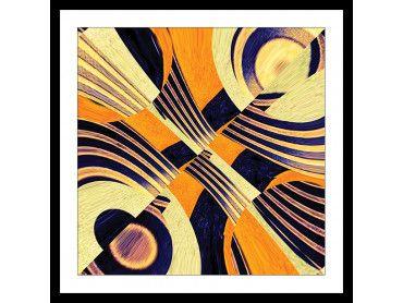 Cadre symetrie jaune art visuel