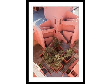 Cadre Escaliers roses la muralla roja