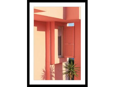 Cadre Fenêtre la muralla roja