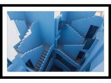 Cadre Escaliers bleus la muralla roja