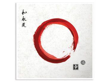 Cadre zen circle japonnais