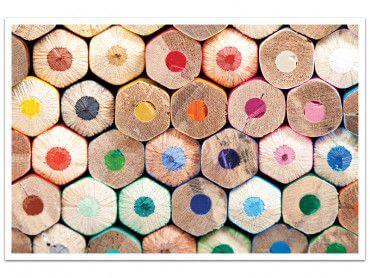 Cadre crayons de bois tout en couleur