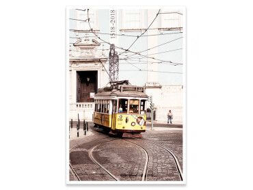 Affiche WelcometoPortugal Tram24 vintage