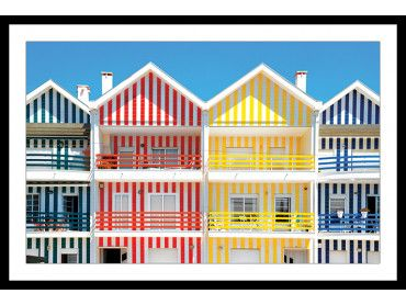 Cadre WelcometoPortugal Houses of Striped Colors