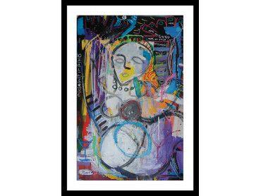 Affiche abstraite odalisque