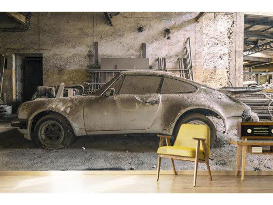 Papier peinture tresor de voiture Porsche 911