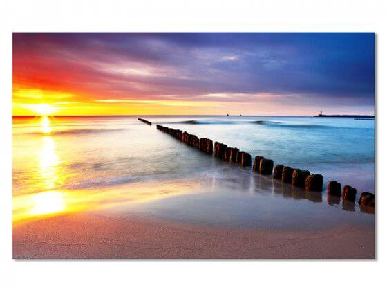 Tableau Photo Paysage Sunset Beach