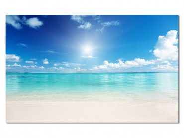 Tableau Photo Lagon et Plage de Reve