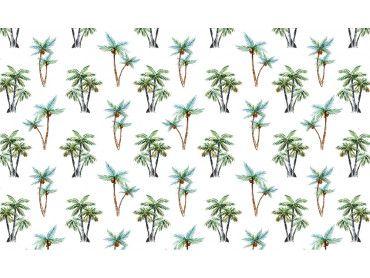 Papier peint cocotiers à gogo