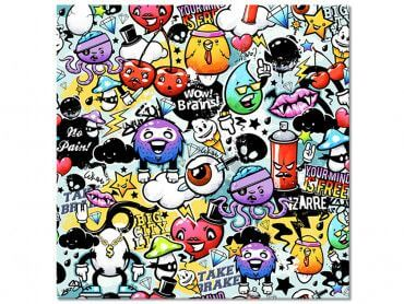 Tableau toile décoration Graffiti